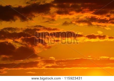 Heavenly Landscape In Orange Colours