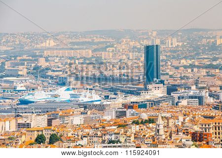 Cityscape of Marseille, France. Urban view