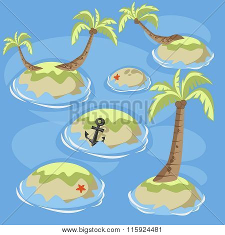 Sea green islands
