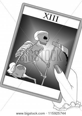 The tarot death's card
