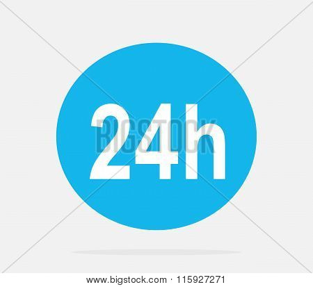 Customer Support Service 24h Icon