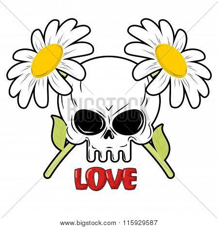 Daisies And Skull