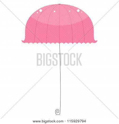 Cute pink vintage umbrella