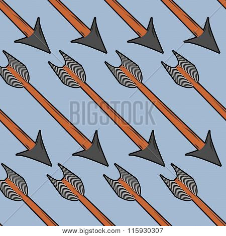 Arrow Archery Seamless Pattern