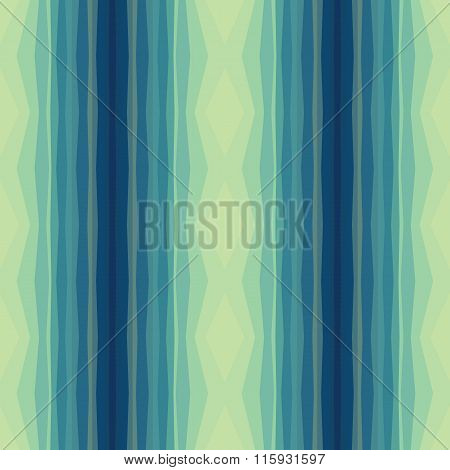 Geometric background - vector seamless pattern in blue and light green colors.
