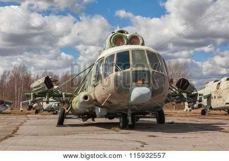 Abandoned Russian Military-transport  Helicopter