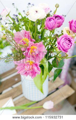 Amazing Rose Tulips In A Vase