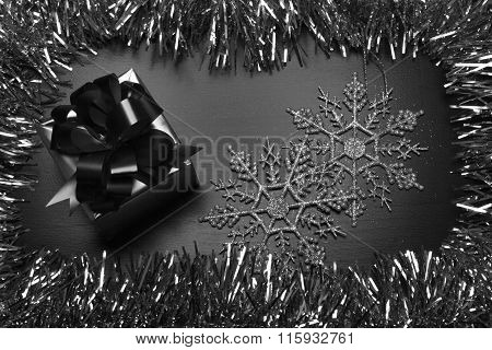 Black And White Holiday Gift Box