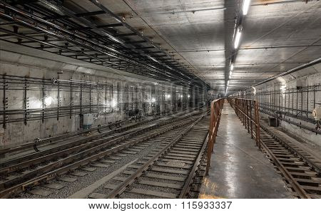 Platform For Train Driver In The New Subway Tunnel