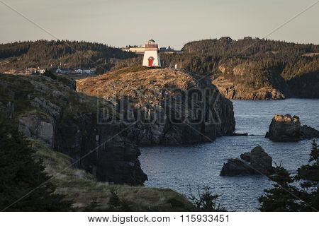Fort Point Lighthouse near Trinity, Newfoundland and Labrador