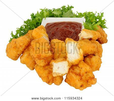 Chicken Nugget Bites And Tomato Sauce