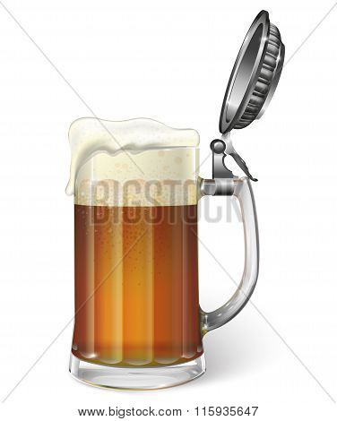 Mug of ale. Vector
