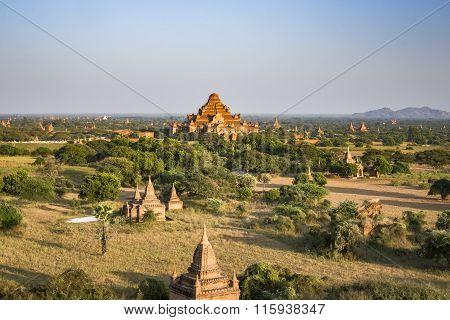 Dhammayangyi Temple In Evening Of Bagan, Myanmar