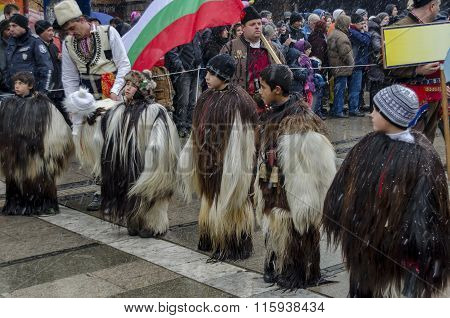 Part of  international  festival of the folk masquerade