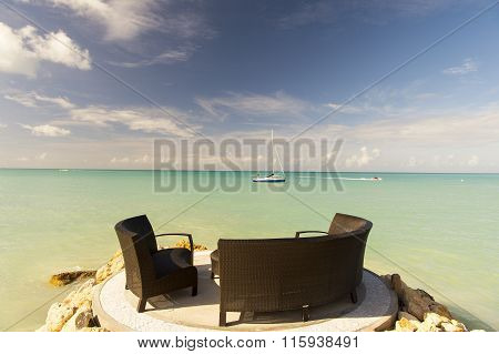 Exotic Terrace With Table
