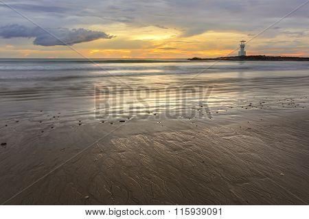 Sunset At Khao Lak Beach With Lighthouse, Phang Nga, Thailand