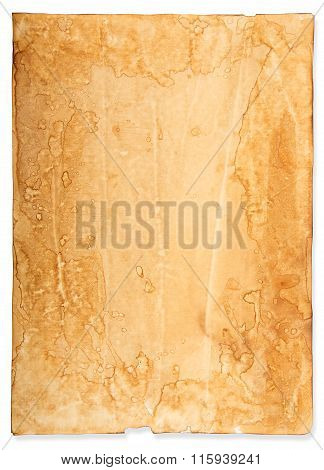 Texture Of Crumpled, Brown Sheet Of Paper