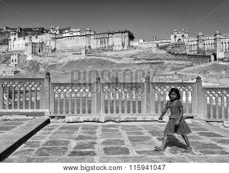 JAIPUR, RAJASTHAN , 29 March 2015 - Street scene in Jaipur, India, Asia