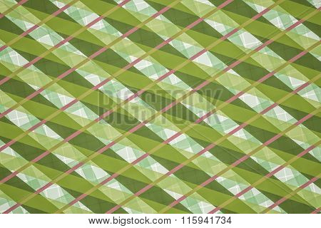 Green, Pink Computer Generated Abstract Geometric Pattern