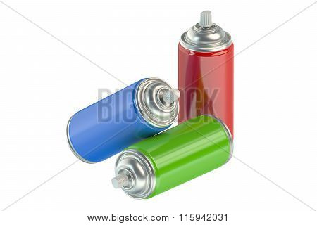 Set Of Spray Paint Cans