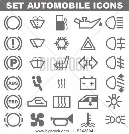 Auto Icon set. Vector.