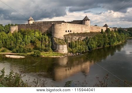 Ivangorod fortress on the banks of the Narva River.