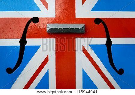 Union Flag wit violin key