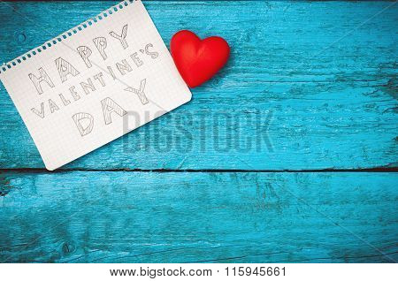 Note Happy Valentine's Day