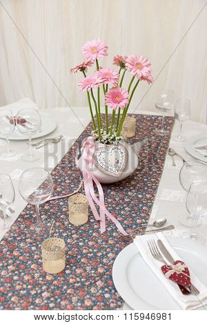 Wedding Table With Flowers