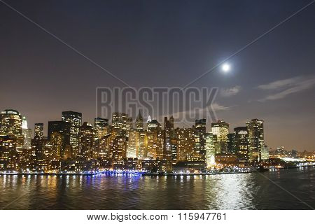 Financial District Waterfront Illuminated