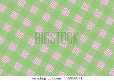 Green And Pink Computer Generated Abstract Plaid Pattern