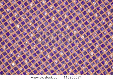 Purple And Orange Computer Generated Abstract Plaid Pattern