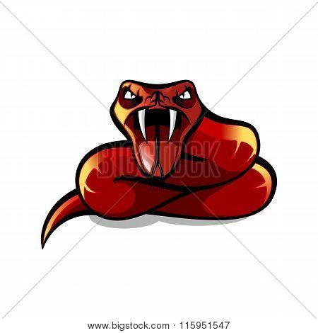 Red Aggressive Viper