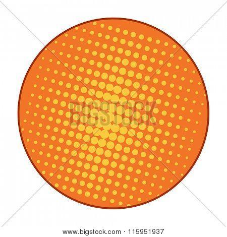 Pop Art style vector bubble or pop art background element. Pop Art grid dots illustration. Comic style bubble background template
