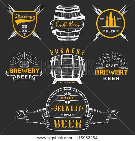 Vintage Craft Beer Brewery Logo And Badge