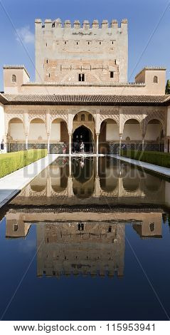 Alhambra Court Of The Myrtles Reflection