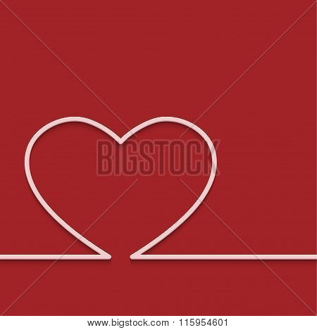 Vector modern red valentines day or 8 march