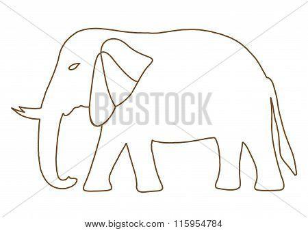 Thai Elephant Freehand