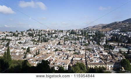 Albaicin Neighborhood Of Granada