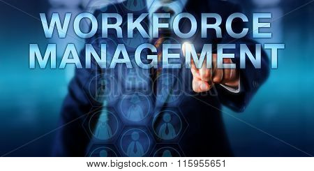 Hr Manager Pushing Workforce Management