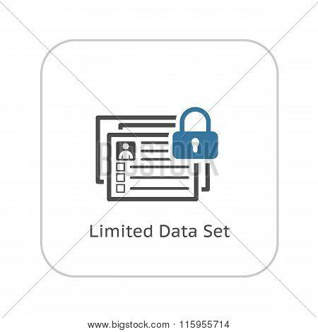 Limited Data Set Icon. Flat Design.