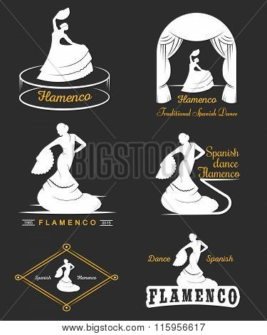 Set Logos And Badges Flamenco