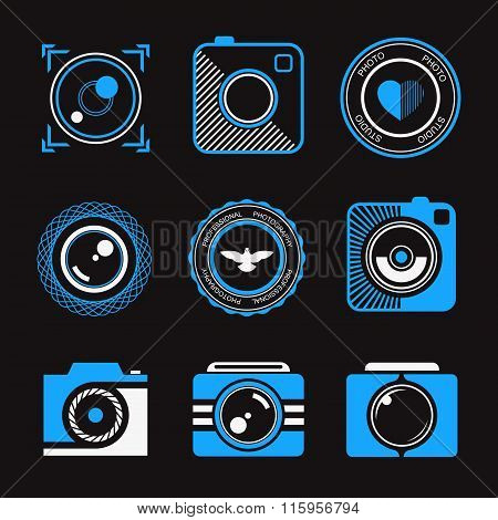 Set Of Vector Icons And Logos Photo