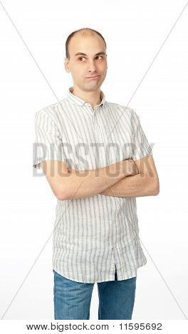 Casual Young Man Thinking