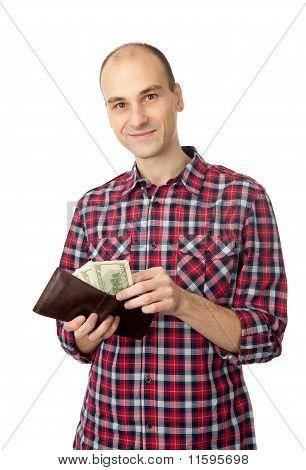 Man Holding Some Dollars
