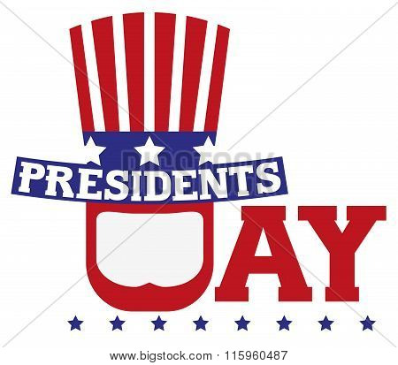Presidents Day in USA. Patriotic symbols
