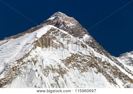 Top Of Mount Everest, From Mount Pumo Ri Base Camp