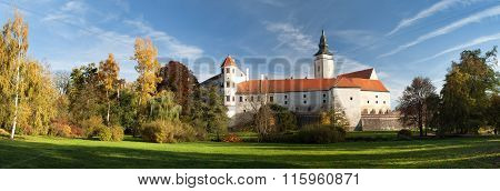 Panorama Of Telc Or Teltsch Town Castle Or Chateau