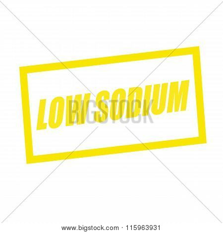 Low Sodium Yellow Stamp Text On White