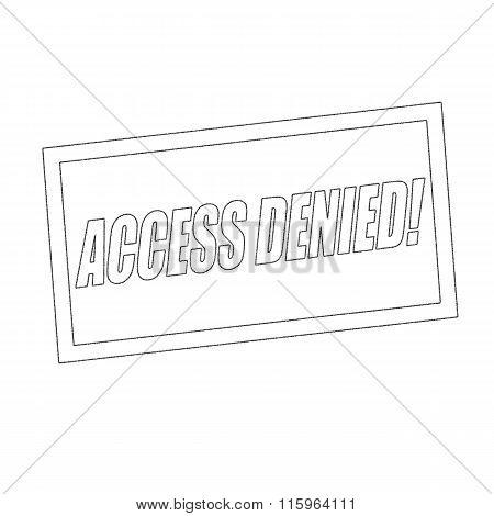 Access Denied Monochrome Stamp Text On White